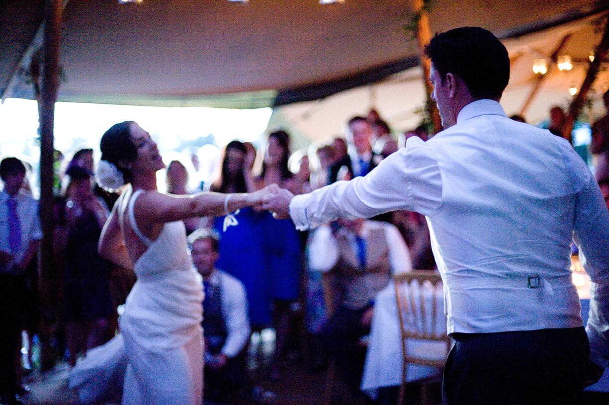 dancing at sunset summer wedding photography Alresford Hampshire Saloon Star band Barry Louis Polisar