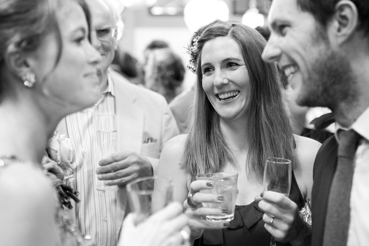 greeting guests at London spring wedding LASSCO vintage Jenny Packham