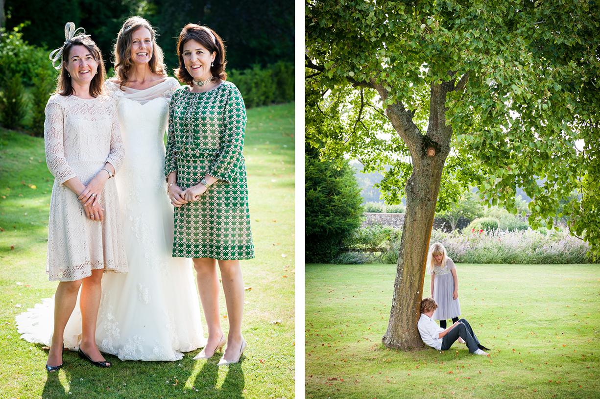 Philippa Lepley dress with bridesmaid summer wedding Ovington Hampshire