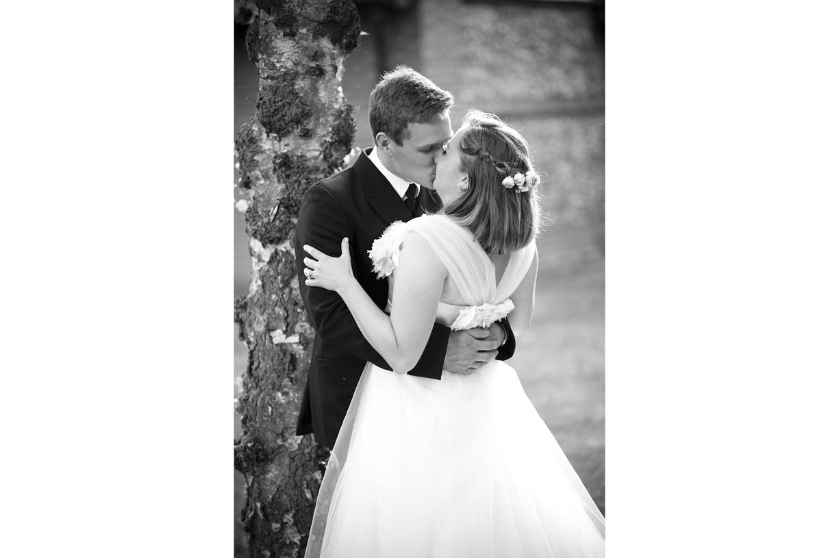 Philippa Lepley wedding dress couple portrait summer wedding photography Braintree Essex