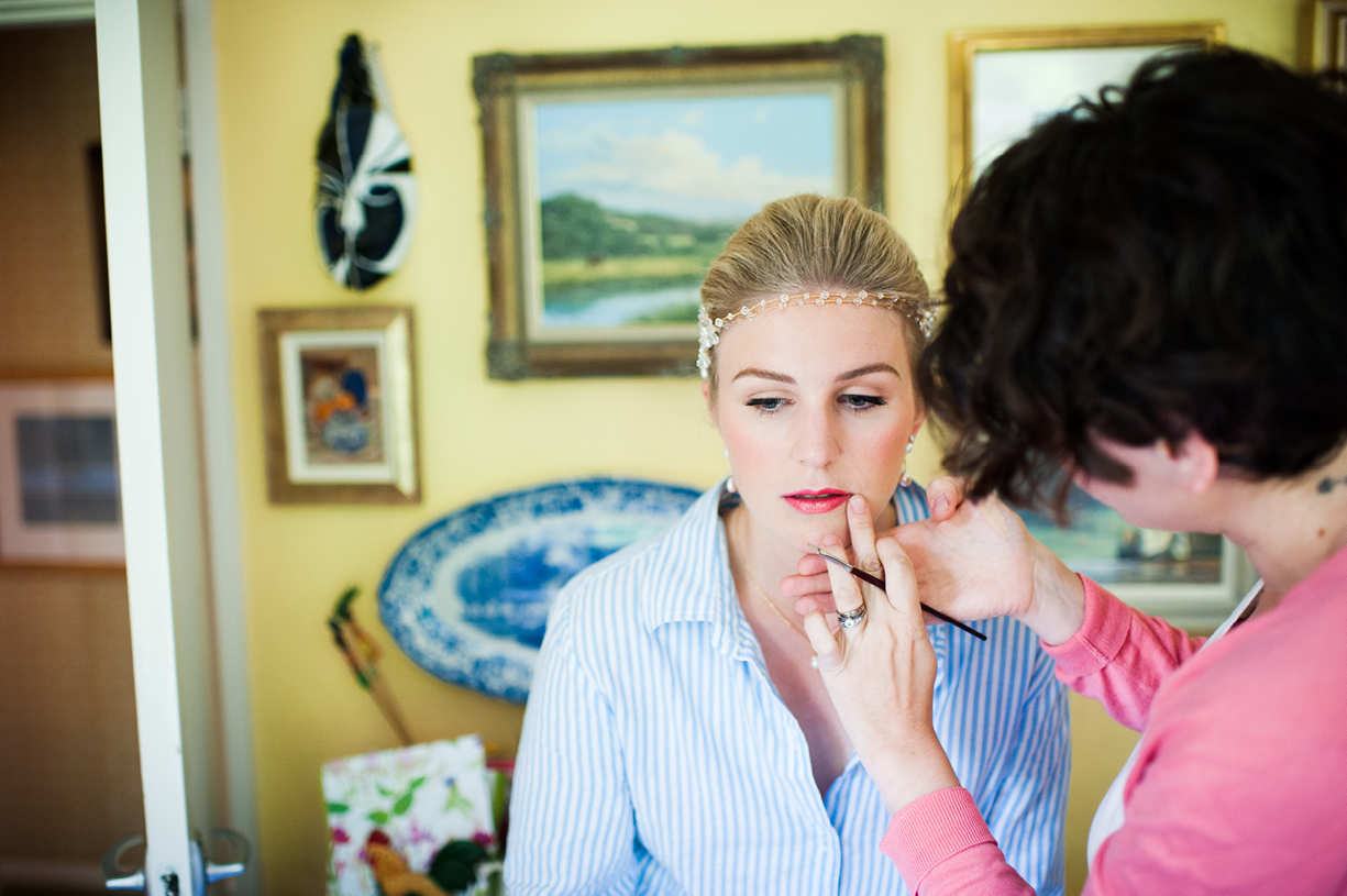 bridal make up rainy wedding Buckhurst Park East Sussex wedding photography English & Greek