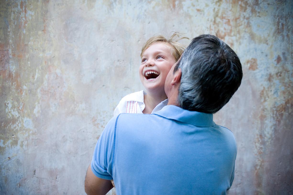 Singapore children's portrait shoot laughing boy