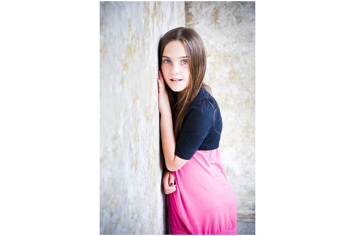 young girl Stourhead Wiltshire summer colour portrait
