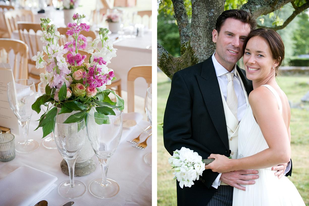 bride & groom portrait summer wedding St Mary's Alresford Hampshire