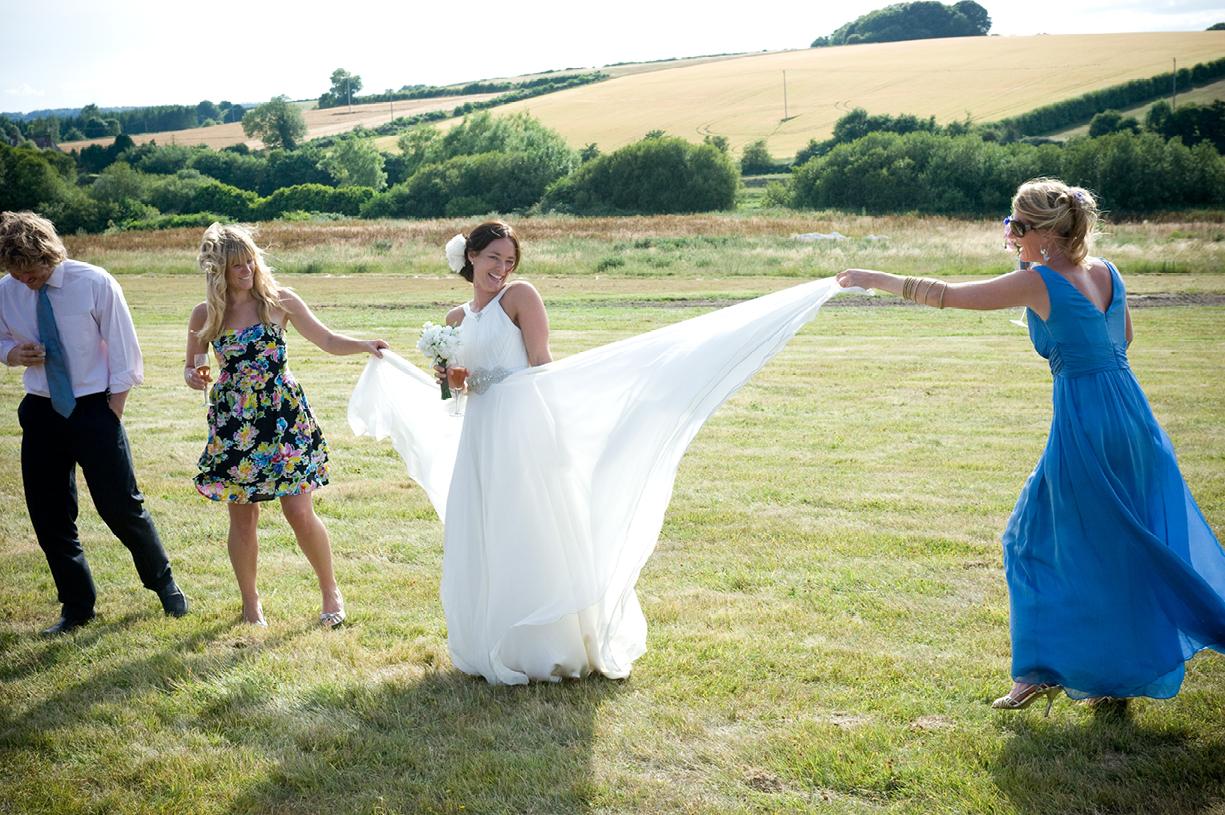 Jenny Packham dress summer wedding Alresford Hampshire