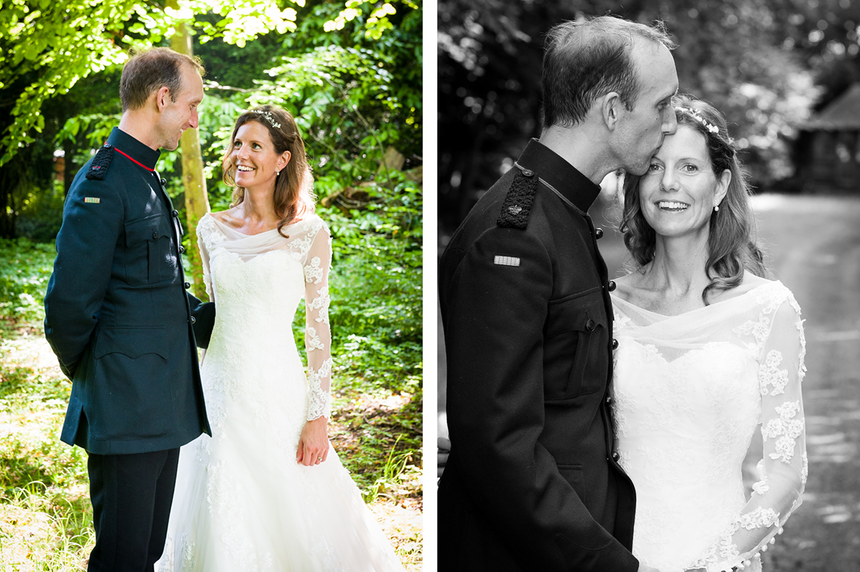 couple portraits wedding photography Ovington Hampshire Philippa Lepley wedding dress
