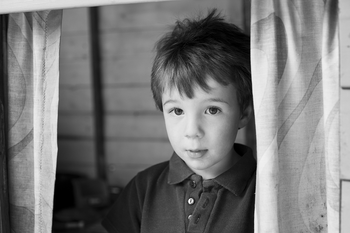 black & white & colour natural light portrait pre-school photography London, Hampshire, South England