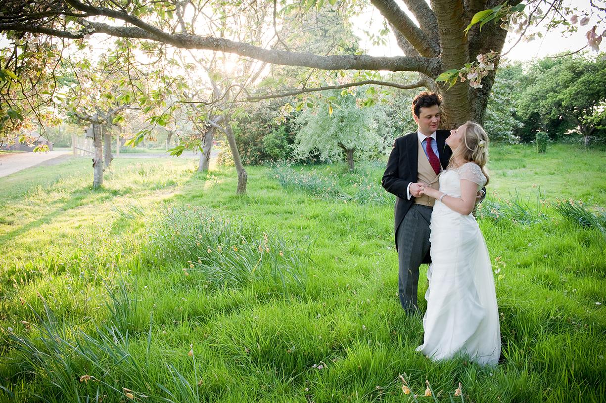 sunset wedding couple shot in Surrey